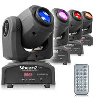 BeamZ Panther25 LED Moving Head Light, Set of 4
