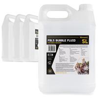 BeamZ Premium Bubble Machine Fluid (4x5L) Liquid Solution DJ Disco Party