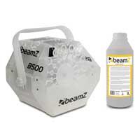 BeamZ B500LED Bubble Machine & 1L Fluid
