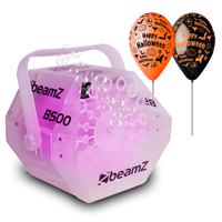 Halloween Party Package with BeamZ B500LED Bubble Machine & Balloon