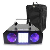 BeamZ Uranus Double LED Moonflower Strobe Light & Gear Sack