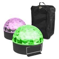 Max Magic Jelly Ball LED Disco Ball Light Pair & Gear Sack
