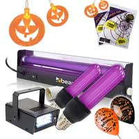 Halloween UV & Strobe Party Light Package