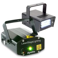 BeamZ Apollo Disco Laser Light & Mini Strobe Light