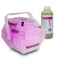 BeamZ B500LED Bubble Machine with 1L Fluid