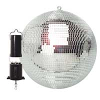 Silver Glitter Mirror Ball 30cm Party Light Kit