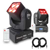 BeamZ Matrix22Z LED Moving Head Lights Pair
