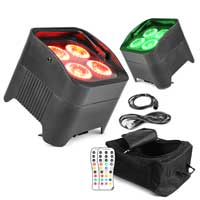 BeamZ LED Par Uplighter Pair & Bag