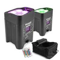 BeamZ BBP96 LED Par Uplighters, Set of 2 with Bag