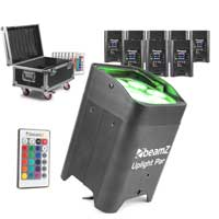 BeamZ BBP96 LED Par Uplighters, Set of 8 with Charging Case