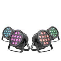 BeamZ SlimPar35 Par Wash Lights, Set of 4