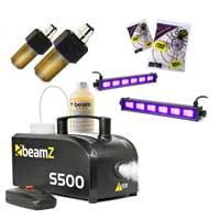 UV Bar, Orange Strobe & Fog Machine Halloween Party Kit