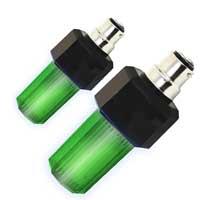 Pair Eurolite Green Strobe Light Bulbs with B-22 Base