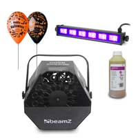 Halloween UV Lights & Bubble Machine Package