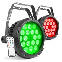 Beamz Professional BWA418 LED PAR Lights, Set of 2