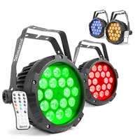 Beamz Professional BWA418 LED PAR Lights, Set of 4