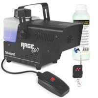 BeamZ Rage600 Smoke Machine + Wireless Controller & 250ml Fluid
