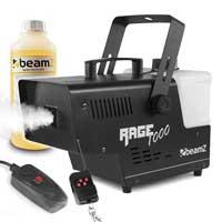 BeamZ RAGE1000 Smoke Machine with Wireless Remote & 1L Fluid