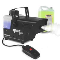 BeamZ Rage600I Smoke Machine + Wireless Controller & 5L Fluid