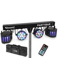 BeamZ Partybar2 LED Disco Light Kit with Soft Case