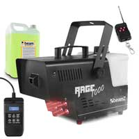 BeamZ Rage 1000LED Smoke Machine with Timer Control & 5L Fluid