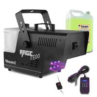 BeamZ Rage 1800LED Smoke Machine with Timer Control & 5L Fluid
