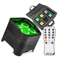 BeamZ BBP94W LED Par Uplighter, Set of 6 with Soft Case