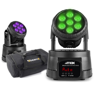 Max MHL73 Moving Heads, Pair with Carry Bag