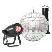 Mirror Ball 20cm with Battery Motor & 12W LED Spotlight