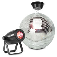 Glitter Mirror Ball 30cm with Motor and 12W LED Spotlight