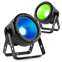 BeamZ COB30RGB LED Flat PAR Can Light Pair