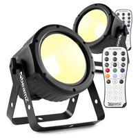BeamZ COB30WW LED Flat PAR Can Light Pair