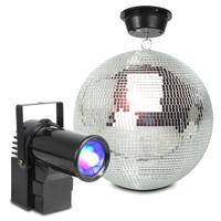BeamZ MB30 Glitter Mirror Ball 30cm with Motor & 10W LED Spotlight