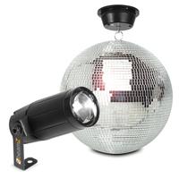 BeamZ MB30 Glitter Mirror Ball 30cm with Motor & 6W LED Spotlight