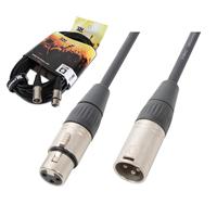 PD Connex Male To Female XLR DMX Cable 12m Pair
