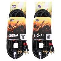 PD Connex 2x RCA Male - 2x RCA Male 12M Cable Pair