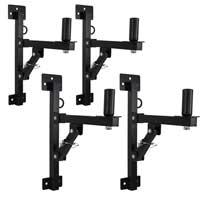 Adjustable Speaker Wall Brackets Set of 4, Black