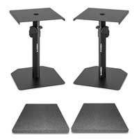 Pair SMS10 Studio Monitor Stands & Isolation Pads