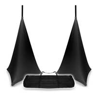 Vonyx Adjustable Speaker Stands & Black Stand Cover 120cm with Transport Bag