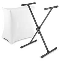 Vonyx Folding Keyboard Stand with Scrim Cover
