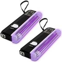 2x Beamz Mini UV Tube Lights