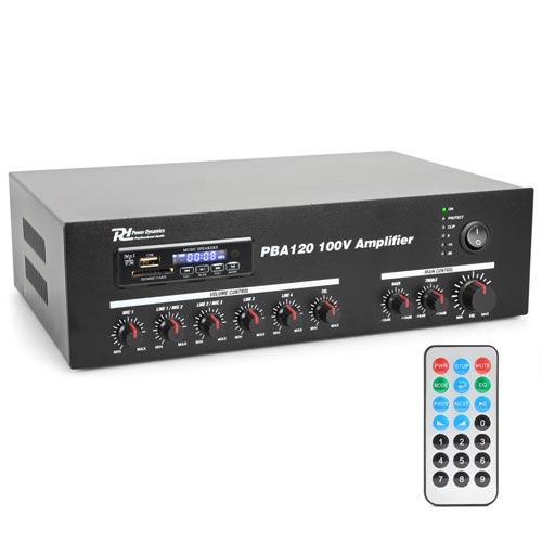 Power Dynamics PBA120 100V Line Amplifier 120W