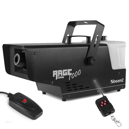 BeamZ Rage 1000 Snow Machine with Remote Control