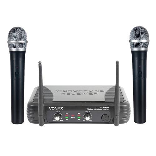 Vonyx STWM712 VHF Wireless Handheld Microphone System