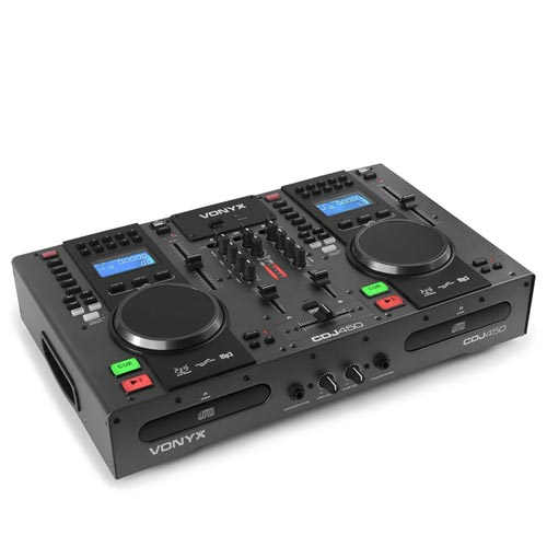 PD CDJ450 DJ Mixer with Dual CD Player & Bluetooth