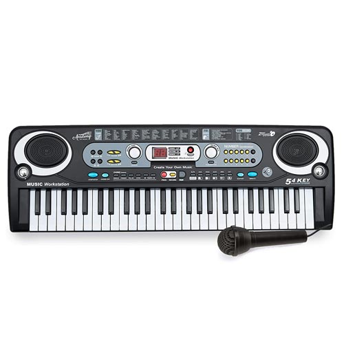 Electronic Music Keyboard - 54-Keys with Microphone