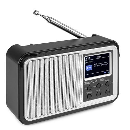 Audizio Parma Portable DAB+ Radio with Bluetooth, Silver