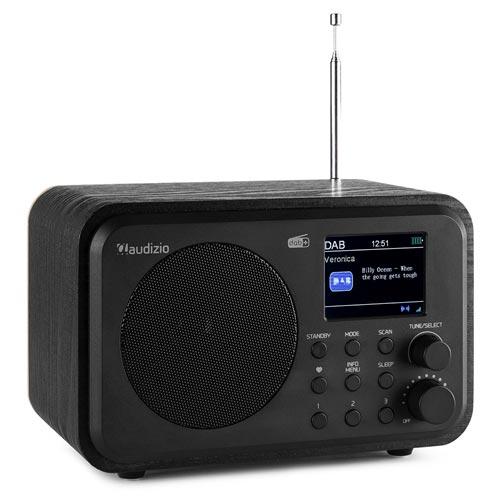 Audizio Milan Portable DAB+ Radio with Bluetooth, Black