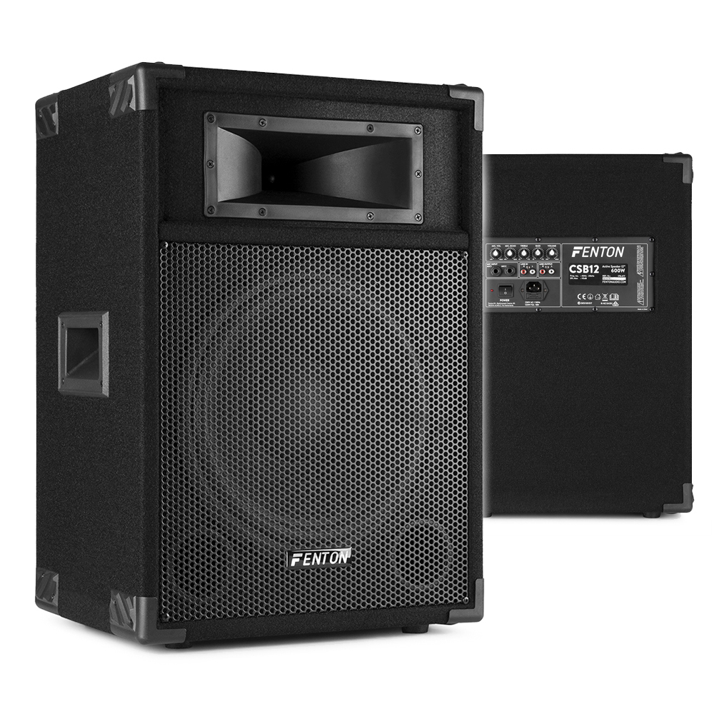 "Fenton CSB12 12"" Active DJ PA Speaker"