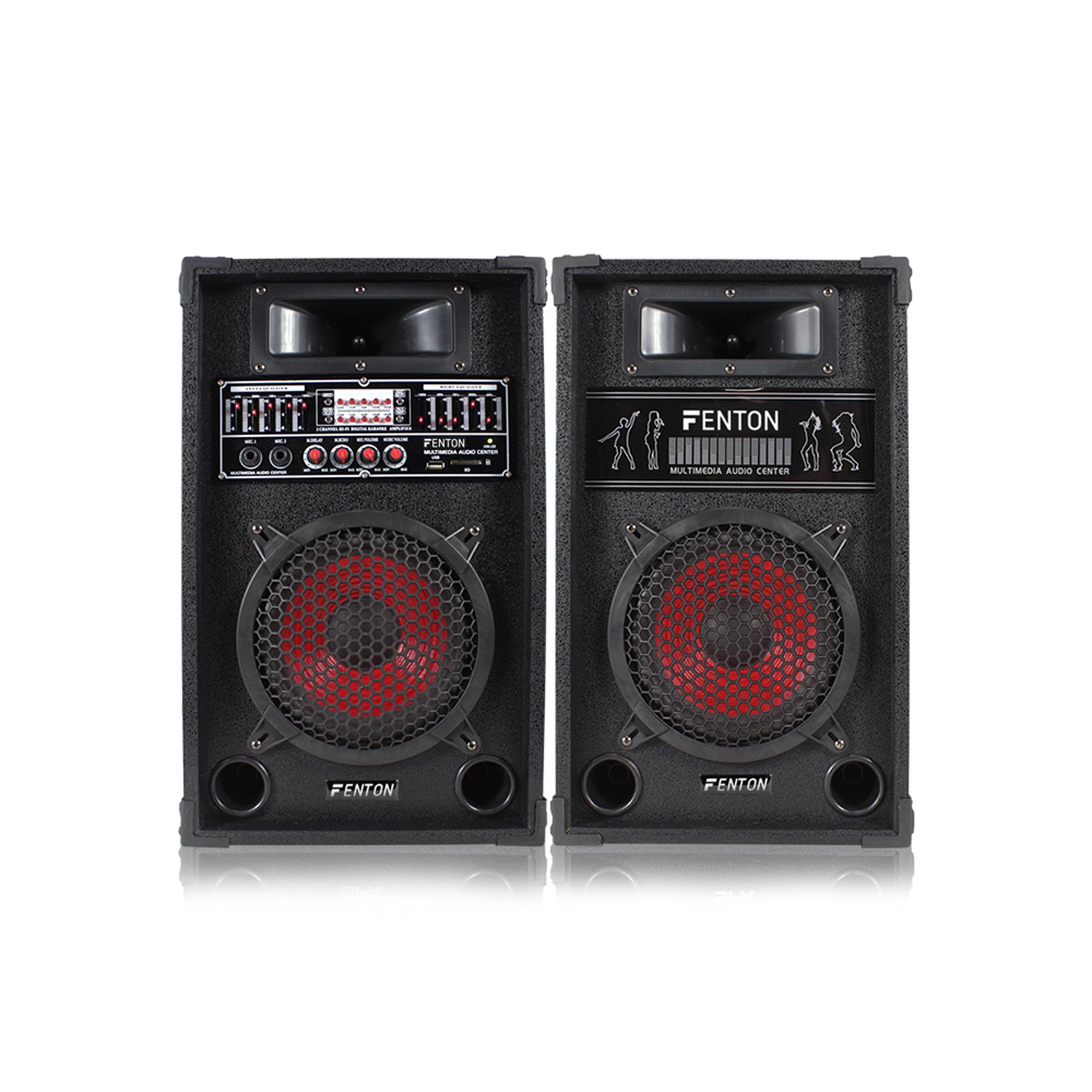 Fenton SPA800 Bluetooth Active Party PA Speaker Pair